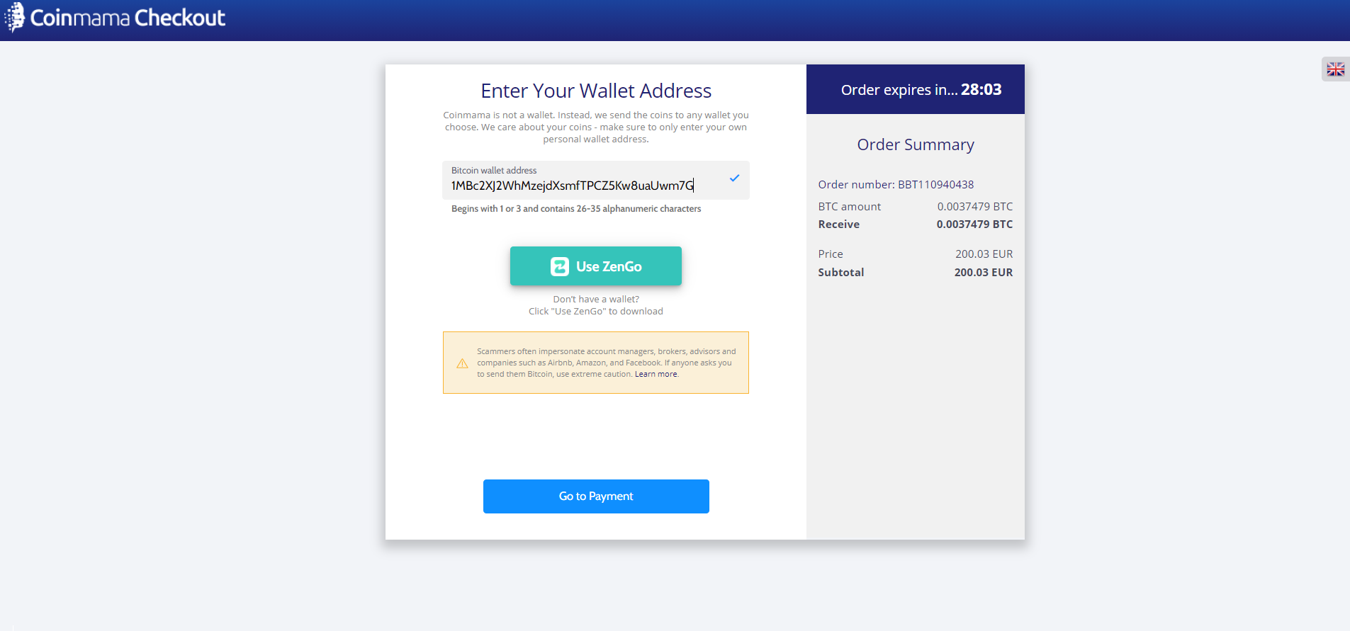 coinmama adresse wallet